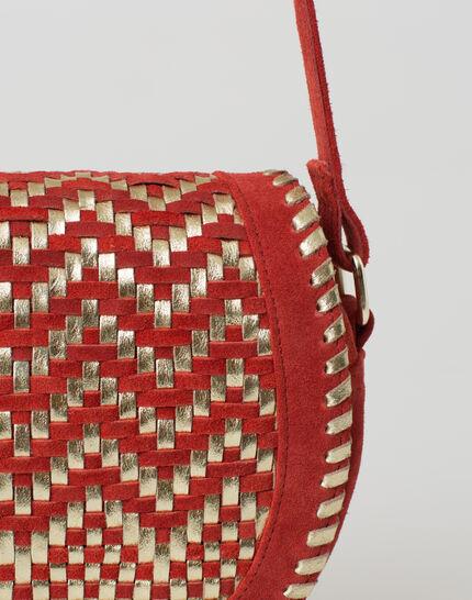 Pedro red velour bag (3) - 1-2-3