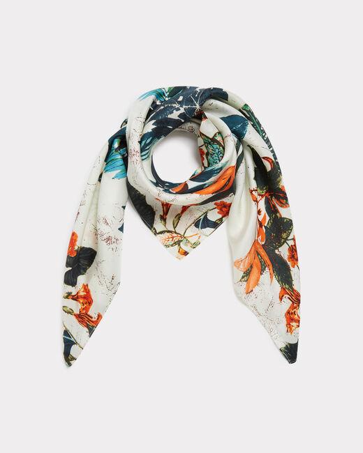 Evasion silk printed scarf (2) - 1-2-3