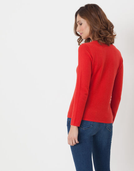 Cashmere sweater in geranium (4) - 1-2-3