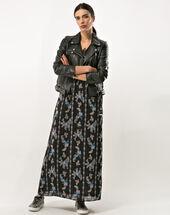Robe longue imprimée babylone noir.