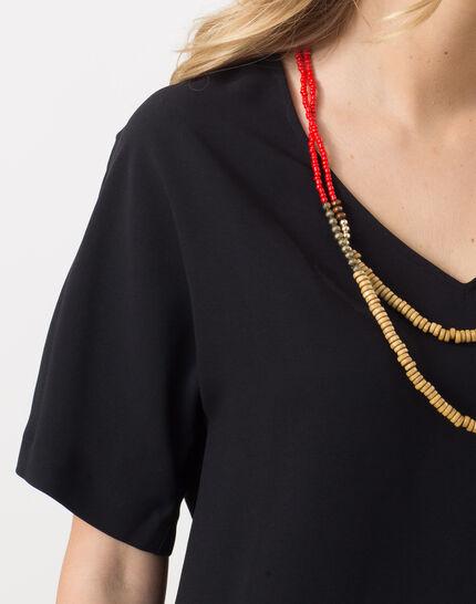 Ellen black shirt with necklace (5) - 1-2-3