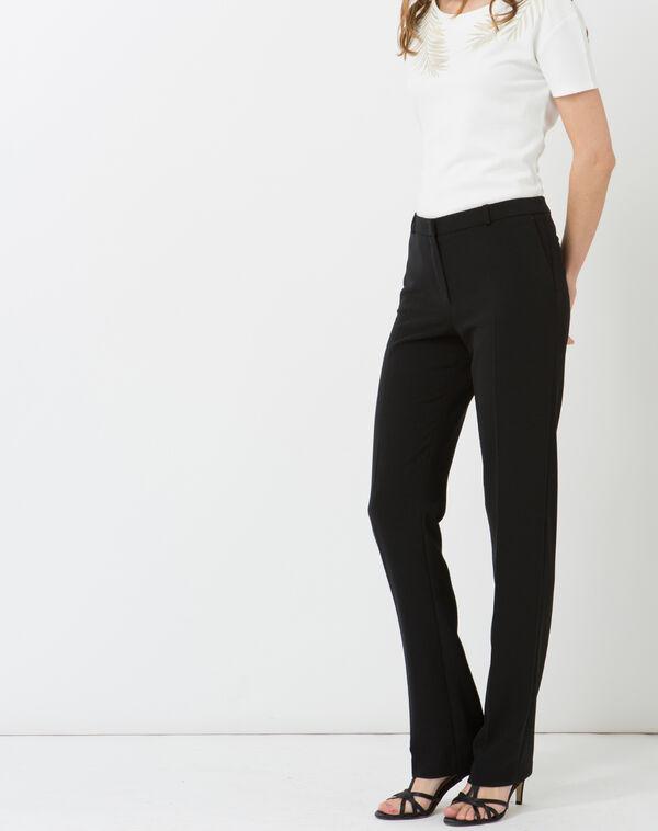 Pantalon de tailleur noir natura à