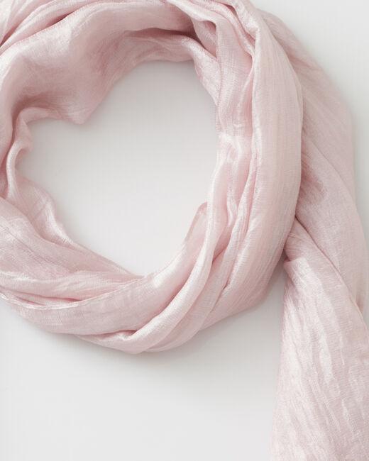 Foulard rose pâle Soyeuse (2) - 1-2-3