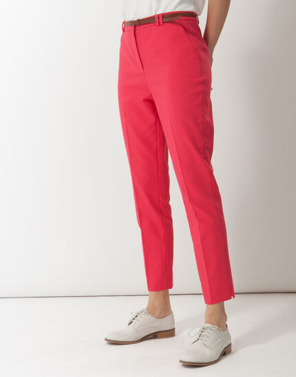 Pauline smart pink trousers with belt (3) - 1-2-3