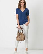 Edwige blue shirt mid blue.