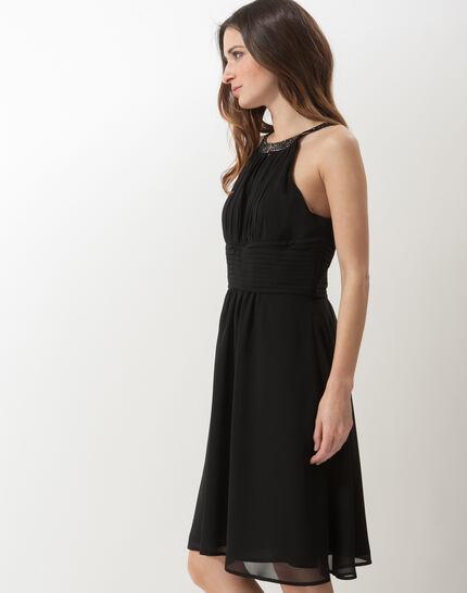 Scarlet bis black dress with Swarovski-embellished neckline (3) - 1-2-3