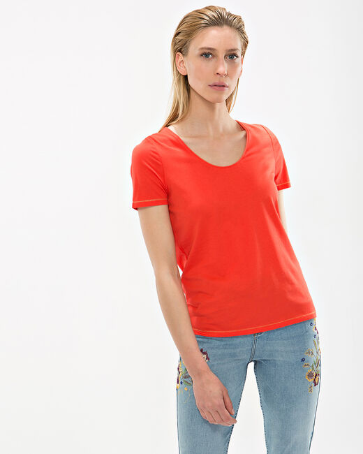 Tee-shirt orange Noon (1) - 1-2-3