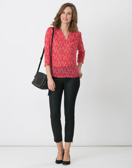 Erine raspberry printed shirt (5) - 1-2-3