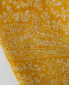 Sun yellow printed scarf (3) - 1-2-3