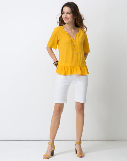 Esmee sunny yellow blouse with pagoda shirt PhotoZ | 1-2-3