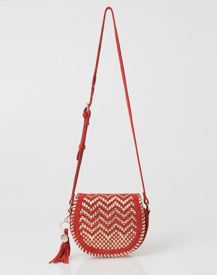Pedro red velour bag (2) - 1-2-3