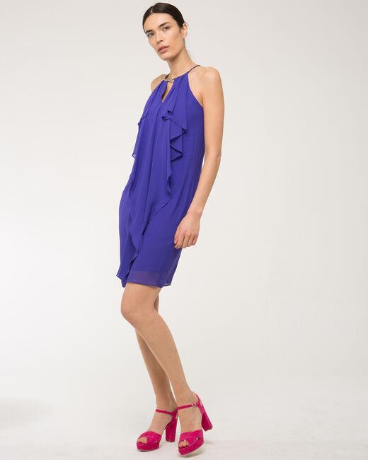Robe violette volantée Frisson (1) - 1-2-3