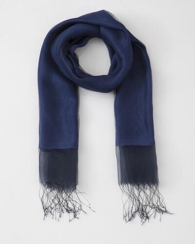 Maeva blue mixed silk stole (1) - 1-2-3
