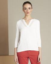 Tee-shirt écru bianca ecru.