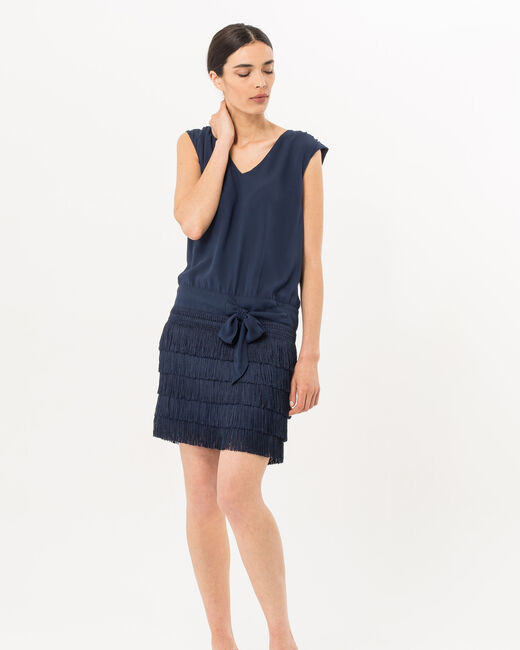 Robe bleu marine esprit Charleston Mistinguette (1) - 1-2-3
