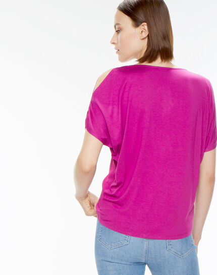 Tee-shirt fuchsia Nymphe (4) - 1-2-3