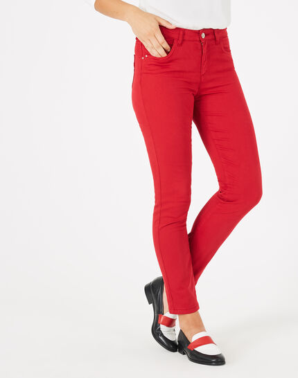 Oliver 7/8 length raspberry trousers PhotoZ | 1-2-3