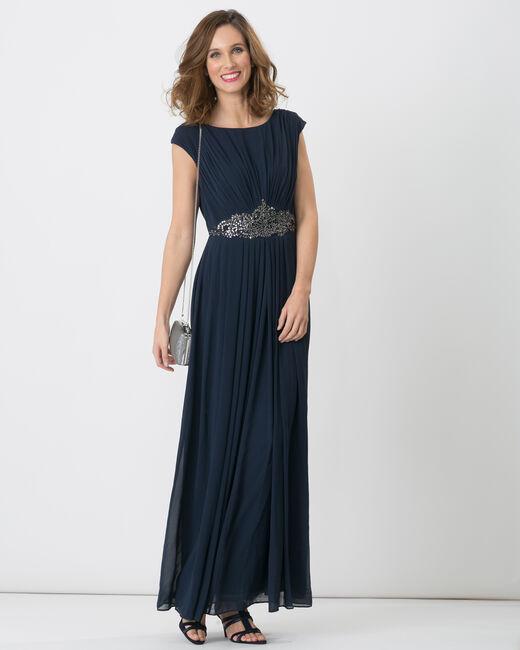Robe longue bleu marine Féérie (1) - 1-2-3