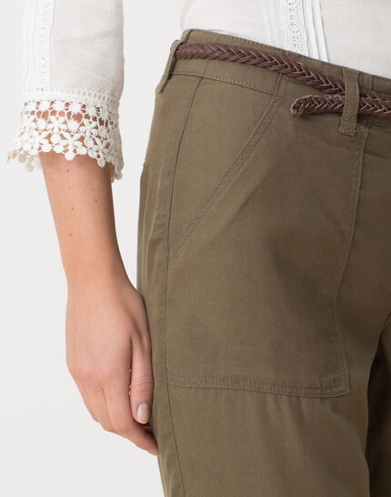 Dana flowing khaki combat trousers (5) - 1-2-3