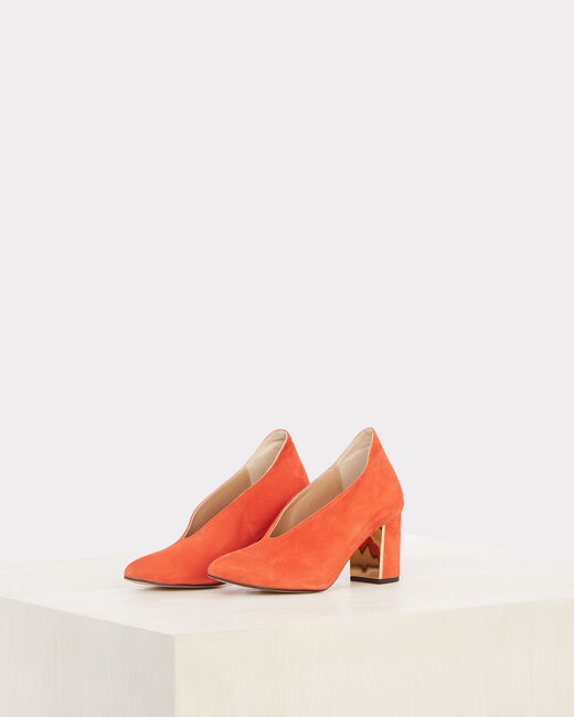 Naomi orange leather heels (1) - 1-2-3