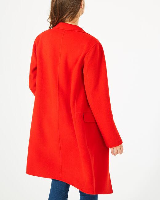 Manteau mi-long rouge en laine mélangée Jack (2) - 1-2-3