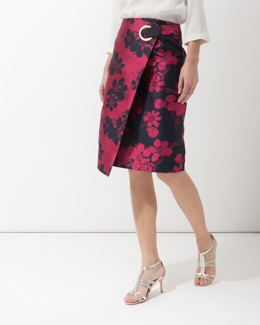 Fuchsia jacquard skirt (1) - 1-2-3