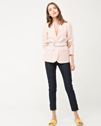 Allegria pale pink linen safari jacket (1) - 1-2-3