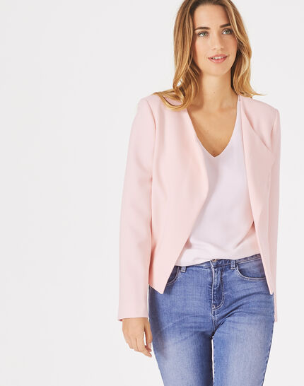 Lili pale pink cropped jacket PhotoZ | 1-2-3
