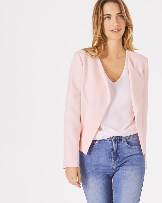 Lili pale pink cropped jacket (1) - 1-2-3