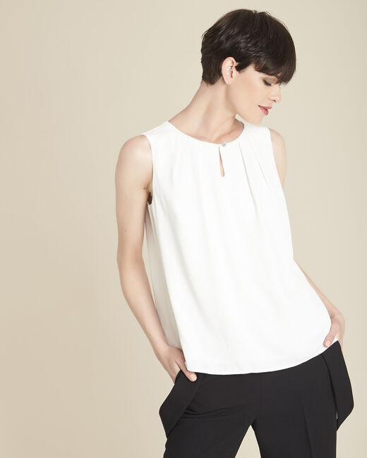 Fanette sleeveless ecru top (1) - 1-2-3