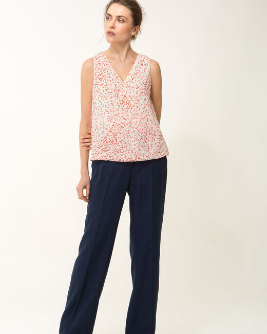 Effigie red printed top (2) - 1-2-3