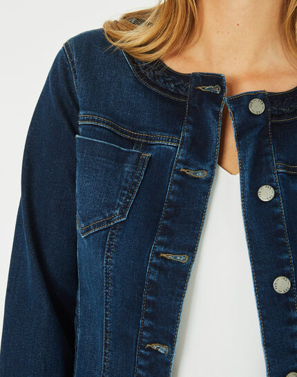 Veste en jean col tressé Uma (3) - 1-2-3