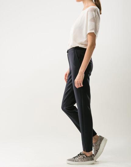 Pantalon de tailleur bleu marine slim Lara (3) - 1-2-3