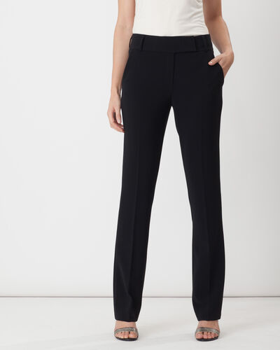 Super straight-cut black trousers (2) - 1-2-3