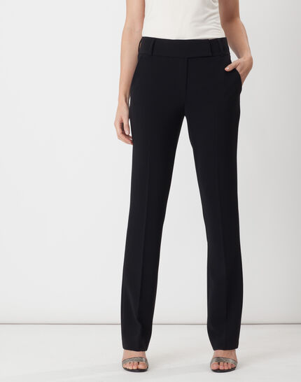 Super straight-cut black trousers (1) - 1-2-3