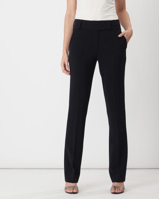 Pantalon de tailleur droit noir Super (1) - 1-2-3