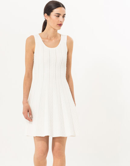 Blake white knitted dress PhotoZ | 1-2-3