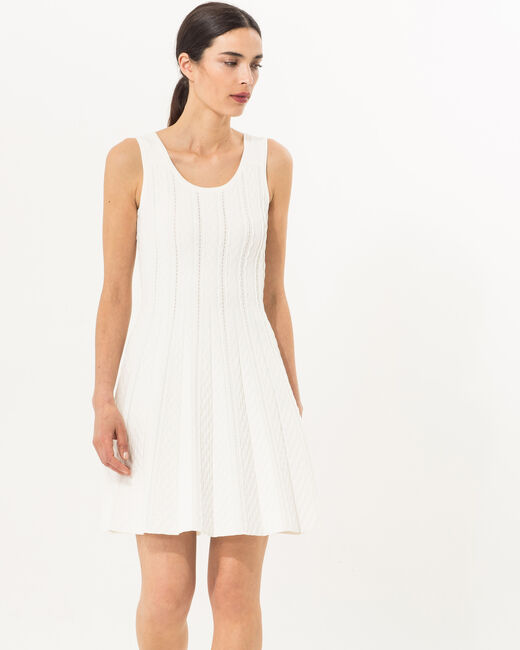 Blake white knitted dress (2) - 1-2-3