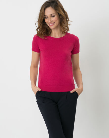 Happy fuchsia top with short sleeves PhotoZ | 1-2-3