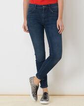Xabi stonewashed 7/8 jeans with braided belt light indigo.