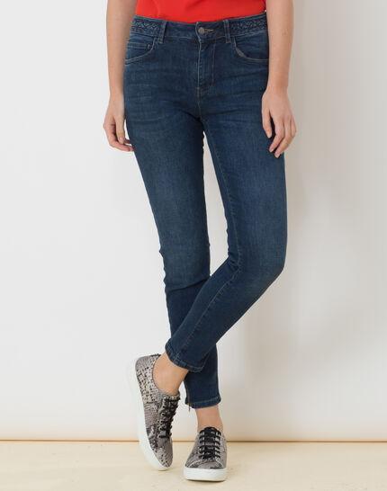 Xabi stonewashed 7/8 jeans with braided belt PhotoZ | 1-2-3