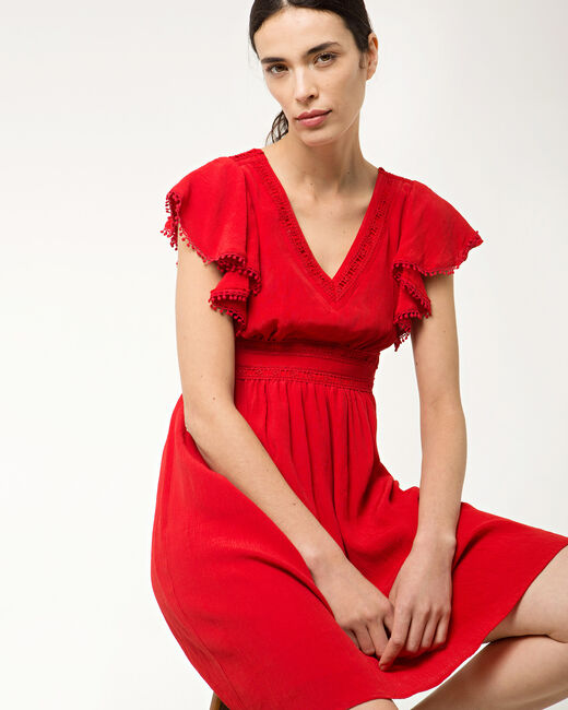 Baha red dress in lace (2) - 1-2-3