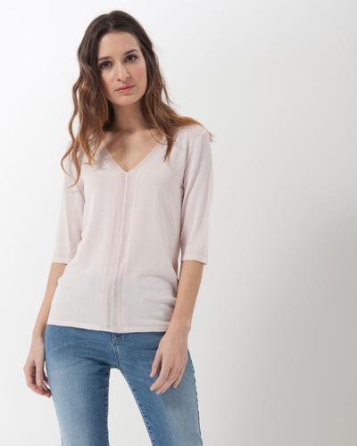 Honey V-neck pale pink sweater (1) - 1-2-3