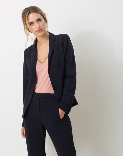 Eve Bis navy blue tailored jacket PhotoZ | 1-2-3
