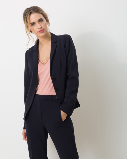 Eve Bis navy blue tailored jacket (2) - 1-2-3