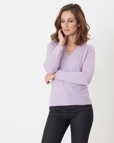 Heart lilac cashmere sweater (1) - 1-2-3