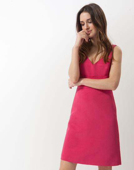 Farah fuchsia ottoman dress (2) - 1-2-3