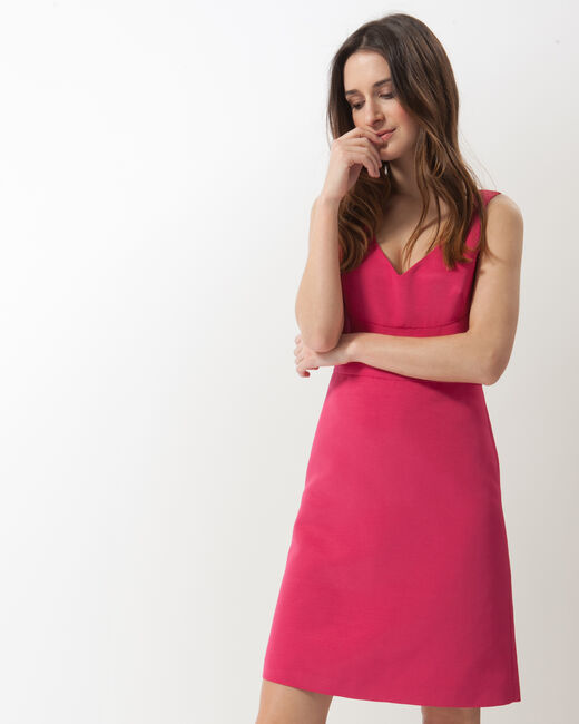 Farah fuchsia ottoman dress (1) - 1-2-3
