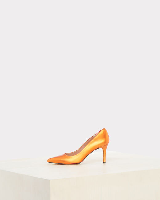 Nastasia orange heels with pointed toe (2) - 1-2-3