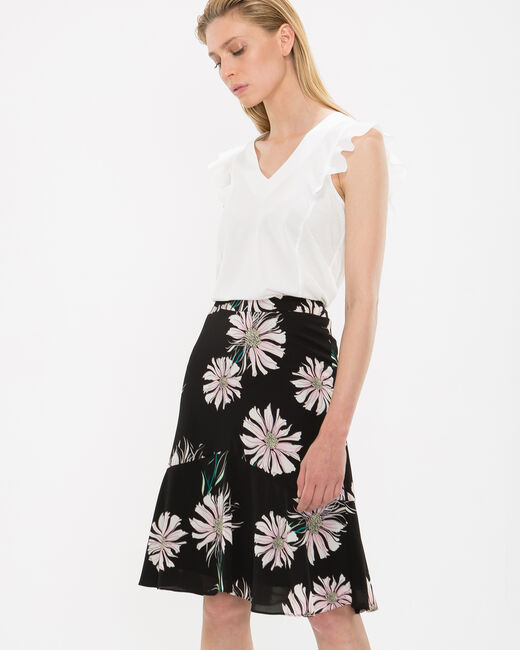 Debor black skirt with floral print (2) - 1-2-3